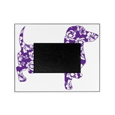 Aloha Doxie in Purple Picture Frame