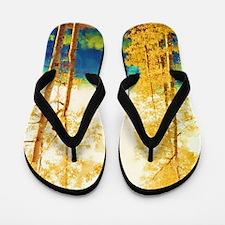 Faded Aspens Flip Flops