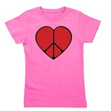 new peace heart copy.png Girl's Tee