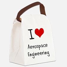 I Love AEROSPACE ENGINEERING Canvas Lunch Bag