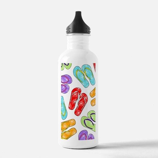 Colorful Flip Flops Be Water Bottle