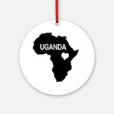 Uganda Round Ornament
