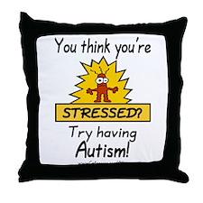 Autism Stress Throw Pillow