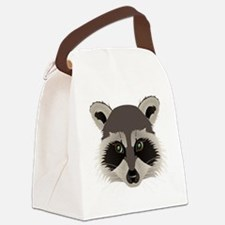racoon face tshirt Canvas Lunch Bag