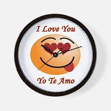 I Love You/Yo Te Amo Wall Clock