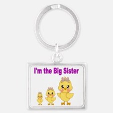 Im the Big sister 2 Landscape Keychain