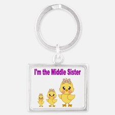 Im the little  sister 3 Landscape Keychain