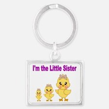 Im the MIDDLE sister 3 Landscape Keychain