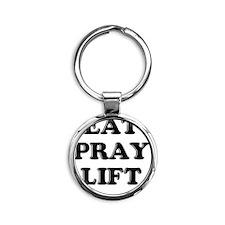 eat pray lift Round Keychain