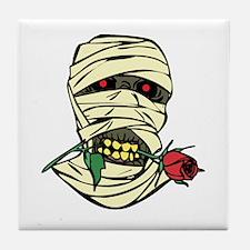 Mummy with Rose Tile Coaster