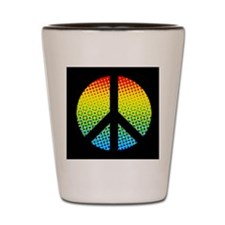 Psychedelic Peace Sign Shot Glass