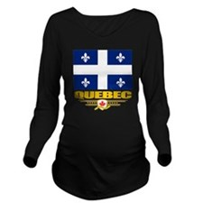 Quebec Pride Long Sleeve Maternity T-Shirt