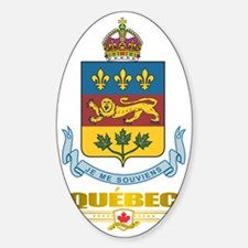Quebec COA Sticker (Oval)