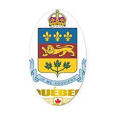 Quebec COA Oval Car Magnet