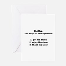 Get me drunk and start the sh Greeting Cards (Pack