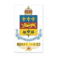 Quebec COA Rectangle Car Magnet