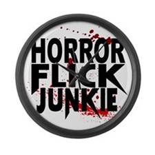 Horror Flick Junkie Large Wall Clock