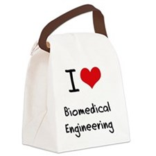 I Love BIOMEDICAL ENGINEERING Canvas Lunch Bag