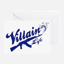 Villain Life - AK47 Baseball Greeting Card