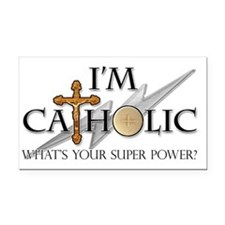 Catholic Rectangle Car Magnet