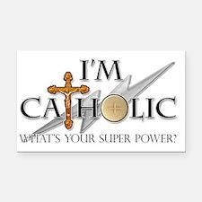 Catholic Rectangle Car Magnet