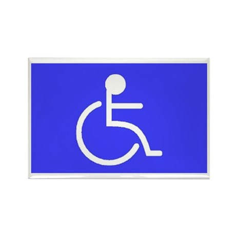 handicapped Rectangle Magnet (100 pack)