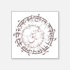 """Gayatri Mantra Kiss Soul Square Sticker 3"""" x 3"""""""