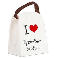 I Love BYZANTINE STUDIES Canvas Lunch Bag