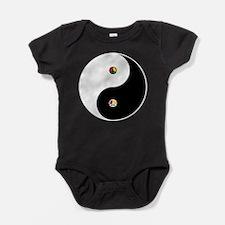 Peaceful Yin Yang Black-T.png Baby Bodysuit