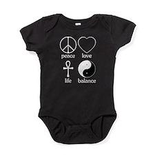 Peace Love Life Balance square II.png Baby Bodysui