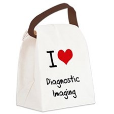 I Love DIAGNOSTIC IMAGING Canvas Lunch Bag