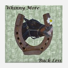 Cute Whinny More Buck Less Horse Tile Coaster