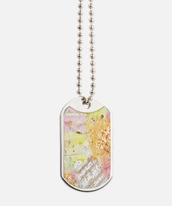 Chopin Florals by Janelle Nichol Dog Tags