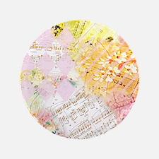 """Chopin Florals Janelle Nichol 3.5"""" Button"""