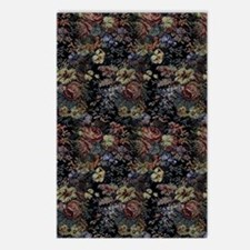 Blue Floral Tapestry Postcards (Package of 8)
