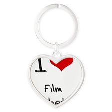 I Love FILM AESTHETICS Heart Keychain