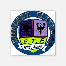 "843 Burgezz Elite crest Square Sticker 3"" x 3"""
