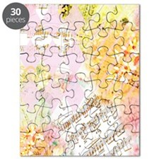 Chopin Florals by Janelle Nichol Puzzle