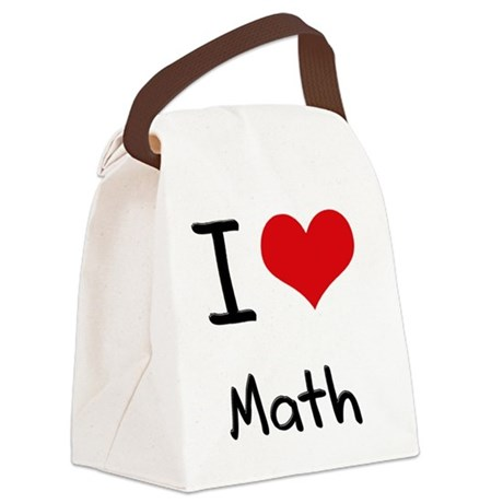 I Love MATH Canvas Lunch Bag