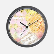Chopin Florals Wall Clock