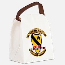 Army - 1st Cav Div w Afghan Svc Canvas Lunch Bag