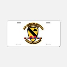 Army - 1st Cav Div w Afghan Svc Aluminum License P