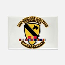 Army - 1st Cav Div w Afghan Svc Rectangle Magnet (