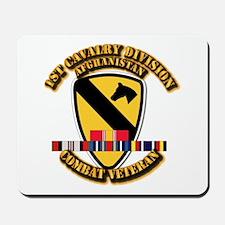 Army - 1st Cav Div w Afghan Svc Mousepad
