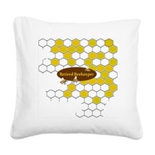 retired beekeeper pillow Square Canvas Pillow