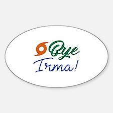 Bye Irma Sticker (Oval)