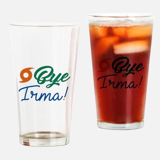 Bye Irma Drinking Glass