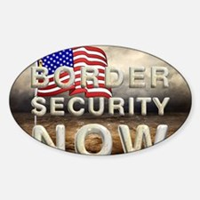 bordersecnow1 Sticker (Oval)