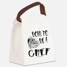 BORN TO BE A CHEF T-SHIRTS AND GI Canvas Lunch Bag