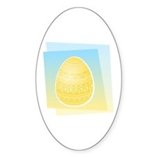 YELLOW EASTER EGG Oval Decal